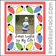 sunday school Jesus Lights Up My Life! Color sheet bible craft from www.daniellesplace.com