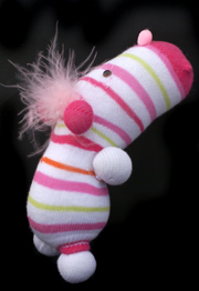 Striped Critter Sock Doll Craft 3