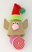 foam elf with candy ornament craft