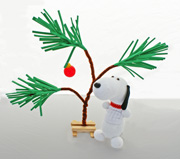 Snoopy Sock Dog and Charlie Brown Christmas Tree