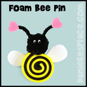 Foam Bee Pin Craft