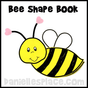 Bee Shape Book Craft for Kids from www.daniellesplace.com
