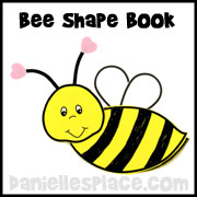Bee Shape Book from www.daniellesplace.com