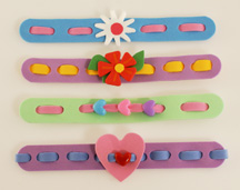 Valentine Bracelets Craft