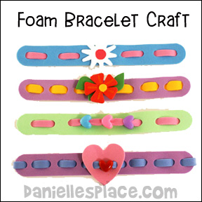 Craft Foam Bracelets