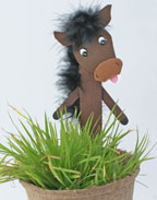 Horse Plant Stake Craft for Kids
