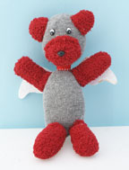 Angel Sock and glove Bear Craft for Kids