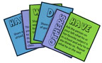 sunday school do unto others bible card game