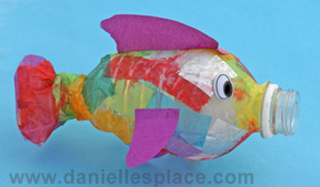 Fish Craft DiY made with a water bottle www.daniellesplace.com