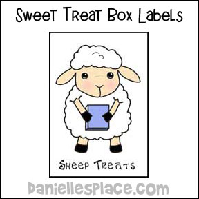 sunday school sheep sweet treat gift box bible craft from www.daniellesplace.com