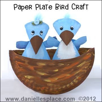 Birds Paper Plate Craft Kids Can Make from www.daniellesplace.com