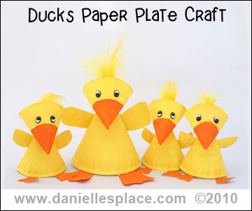Duck Paper Plate Craft Kids Can Make