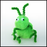 Grasshopper pompom Bible Craft for Kids