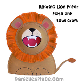 Roaring Lion Paper Plate and Paper Bowl Craft Kids Can make