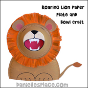 roaring lion paper plate and bowl craft for childrens ministry and sunday school from www.daniellesplace.com