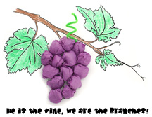 sunday school Vine and Grapes Activity Sheet bible craft