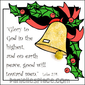 Bible Verse Christmas Bell Activity Sheet for sunday school from www.daniellesplace.com