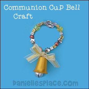 Sunday School Communion Cup Christmas Bell Bible Craft for Kids