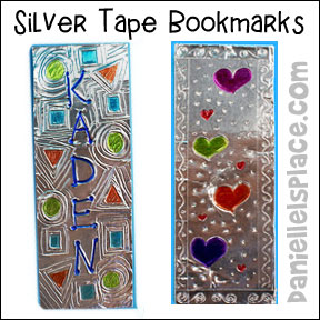 Back-to-school Silver Tape Bookmark Craft