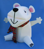Milk jug polar bear recycle craft picture 2
