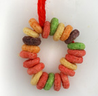 cereal christmas wreath ornament