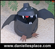 Bat Milk Jug Craft www.daniellesplace.com