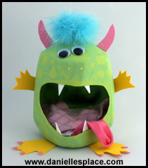 Milk Jug Sock Monster Sock Caddy Craft for Kids