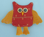owl craft change purse craft