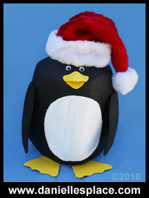 Penguin Milk Jug Craft for Kids - Recycle craft www.daniellesplace.com