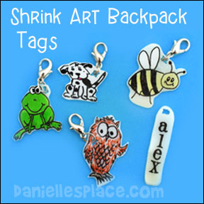 Back to School Shrink Art Tags from www.daniellesplace.com