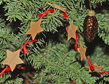 Paper star Christmas Garland