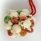 popcorn peanut ball ornament