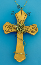 Paper Mache and Wire Cross Craft for Kids