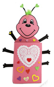 Valentine Box Card Holder Craft Kids Can Make - Love Bug