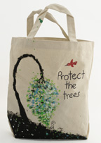 Protect the Trees Earth Day Canvas Grocery Bag Craft Project