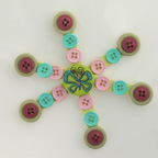 Button Craftstick Snowflake Craft
