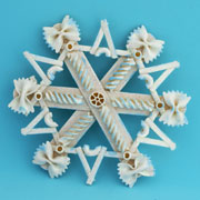 craftstick noodle snowflake craft for kids