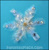 snowflake craft stick craft