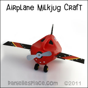 Milk Jug Airplane Craft for Kids www.daniellesplace.com