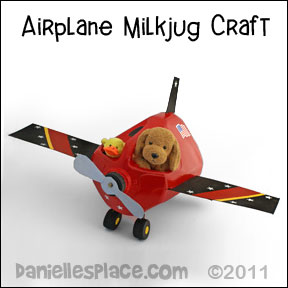 Milk Jug Air Plane Craft for Kids www.daniellesplace.com