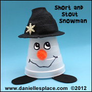 Snowman Cup Craft for Kids