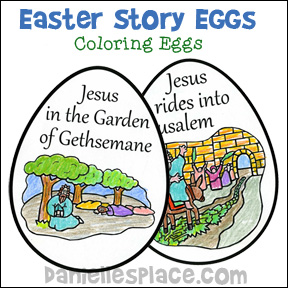 Easter Story Eggs Coloring Book from www.daniellesplace.com
