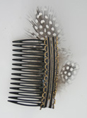 feather comb hair decoration
