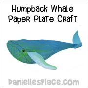 Humpback Whale Paper Plate Craft for Kids