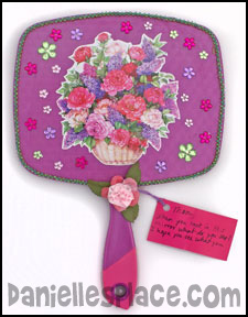 Mother's Day Mirror Craft www.daniellesplace.com