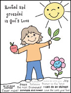 Rooted in God's Love Sunday School Activity Sheet