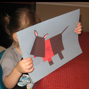 scottie dog paper craft