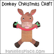 sunday School Bible Craft Paper Bag Donkey Craft