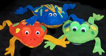 frog beanbag craft