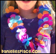 Paper Lei Craft - Hawaiian Crafts for Kids from www.daniellesplace.com